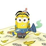 Lovepop Ich - Einfach Unverbesserlich Minions Geburtstag Überraschung Pop Up Karte – Grußkarte, 3D Karten, Pop Up Geburtstagskarten, Minions Geburtstagskarte, Geburtstagskarte für Kinder