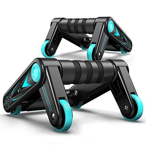 NENGGE Bauchtrainer Ab Roller Klappbar Bauchroller Bauchmuskeltrainer Multifunktion Fitnessgerät für Frauen Männer Bauchmuskeltraining Muskelaufbau für Zuhause Fitness