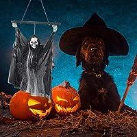 Nrkin Fantasma De Halloween Esqueleto Pendelleuchte Sprachgesteuerte LED Shine Grito Colgantes Fantasma Luces Für Partido De La Barra Decoración Elegance