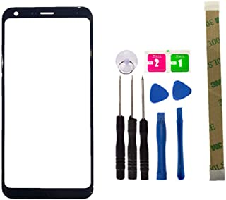 Replacement Screen Repair Front Outer Top Glass Lens Cover for LG Q7 Q7+ Q7 Plus Mobile Phone Parts and Adhesive Tools (No LCD and Touch Digitizer)