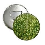 DIYthinker Green Pumpkin Peel Macro Photo Patterns Round Bottle Opener Refrigerator Magnet Pins