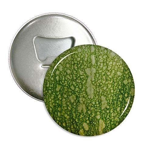 DIYthinker groene pompoen schil macro foto patronen ronde fles opener koelkast magneet pinnen badge knop gift 3 stks