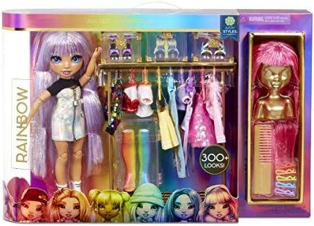 Rainbow High Fashion Studio – Exclusive Doll with Clothing, Accessories & 2 Sparkly Wigs - Create 300+ Looks!