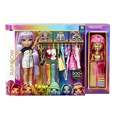 Rainbow High Fashion Studio – Includes Free Exclusive Doll with Rainbow of Fashions and 2 Sparkly Wigs to Create 300…