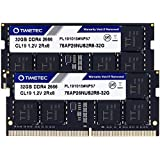 Timetec Hynix IC Apple DDR4 2666MHz PC4-21300 SODIMM Memory Upgrade For Mac Mini 8,1 Late 2018 and iMac TBD2 Retina 5K 27-inch Early 2019 (64GB(32GBx2枚))