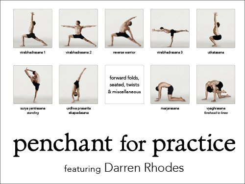 Tirtha Studios Penchant for Practice Yoga Poster with Darren Rhodes