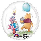 Anagram 26343 Winnie The Pooh Birthday Foil Balloon, 18', Multicolored