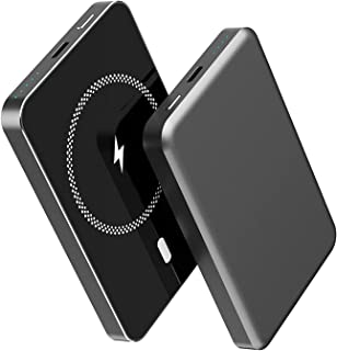 Bärbar magnetisk powerbank 5 000 mah, 15 w trådlös expressladdare, 20 w Pd typ C USB externt batteri, kompatibel med iPhon...