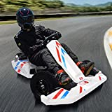 Huokan Electric Drifting Go Kart for Kids,Electric Kart Drifting,Outdoor Riding Toy Racing Scooter, with Flashing Lights,Cruising Range of 8-10 Km and Speed of 12-16 km/h (White)
