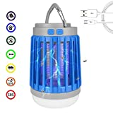 Led Camping Lantern, Bug Zapper Mosquito Killer,Flashlight,3 In 1 Waterproof USB Rechargeable