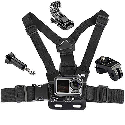 Gurxi 4 Stück Cameras Brusthalterung Chest Mount Kompatibel Halterung Brusthalterung Chest Mount Brustgurt Cameras Brustgurt für GoPro Hero und Action-Kameras Voll Verstellbarer Brustgurt
