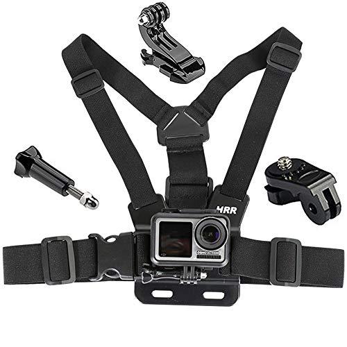 Gurxi 4 Pezzi Cinghia per la Testa del Kit di Accessori per Action Cam Telecamera Toracica Fascia Toracica per Montaggio per GoPro Hero e Action Cam Cinturino Pettorale Completamente Regolabile