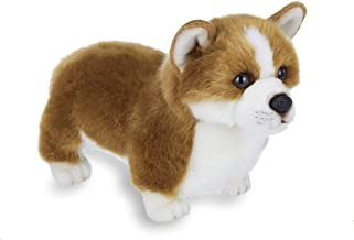 Bearington Queenie Corgi Plush Stuffed Animal Puppy Dog, 13 inches