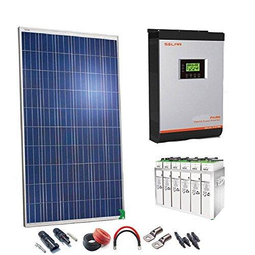 Kit Solar 48v 2000w/10000w día Batería 5TOPzS 812Ah Inversor Multifunción 5kva Regulador MPPT 60A