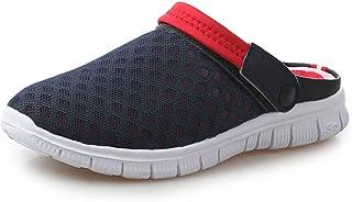 Berniee Summer Garden Clogs Womens Men Quick-Dry Mesh Slipper Walking Sandals Lightweight Water Beach Shoes Pool Non-Slip ...