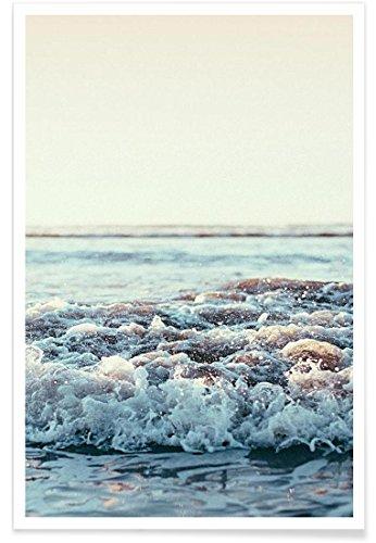 """JUNIQE® Ozeane, Meere & Seen Poster 20x30cm - Design """"Pacific Ocean"""" entworfen von Leah Flores"""