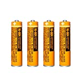 4 Pack HHR-55AAABU NI-MH Rechargeable Battery for Panasonic 1.2V 550mAh AAA Battery for Cordless Phones