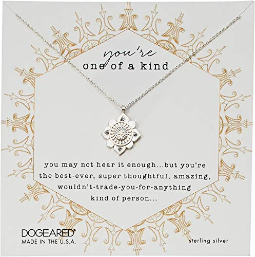 Dogeared You're One of A Kind, Crystal Mandala Necklace Sterling Silver One Size