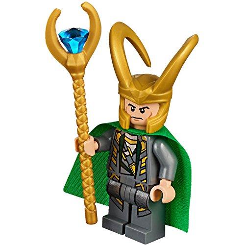 LEGO Marvel Super Heroes: Minifigur Loki mit goldenem Stab