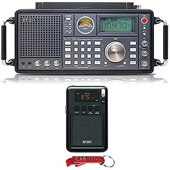 Eton Elite 750 NELITE750 Classic AM/FM/LW/VHF/Shortwave SSB Radio and Eton Mini Compact Pocket Radio Bundle Listen To The World on Every Radio Wavelength - 1,000 Programmable Channels Memory  on 750