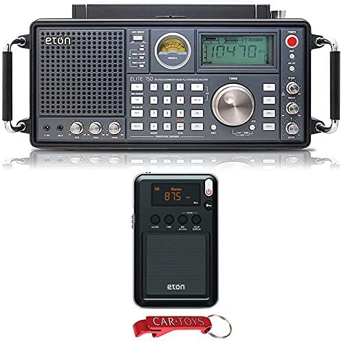 Eton Elite 750 NELITE750 Classic AM/FM/LW/VHF/Shortwave SSB Radio and Eton Mini Compact Pocket Radio Bundle. Listen To The World on Every Radio Wavelength - 1,000 Programmable Channels Memory (on 750)