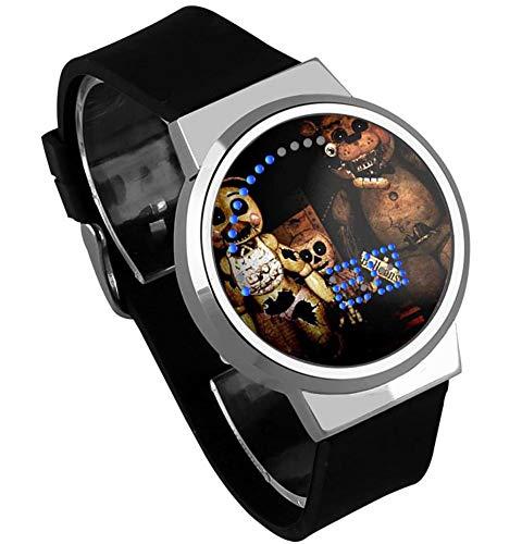 Relojes De Pulsera,Relojes Led Táctiles Relojes Impermeables De Dibujos Animados con Luz Nocturna Alrededor De La Animación A