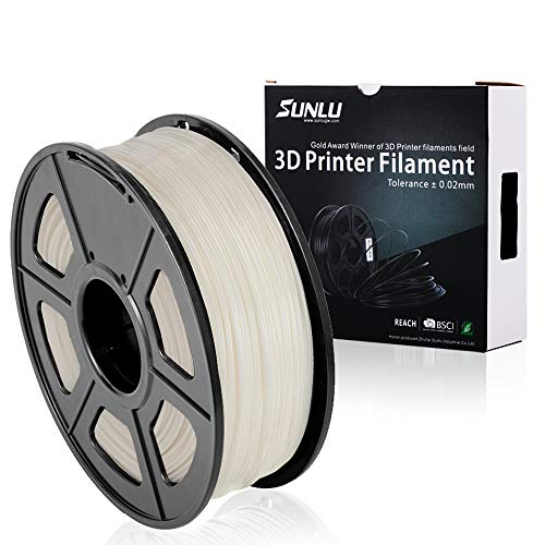 SUNLU ABS Plus Filaments for 3D Printer-Black ABS Filament 1.75 mm,Low Odor Dimensional Accuracy +/- 0.02 mm 3D Printing Filament,1KG,Black