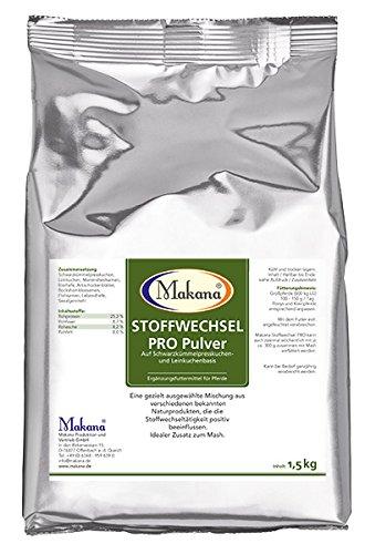 Makana Stoffwechsel PRO auf Schwarzkümmel- & Leinkuchenbasis, Pulver, 1,5 kg Beutel (1 x 1,5 kg)
