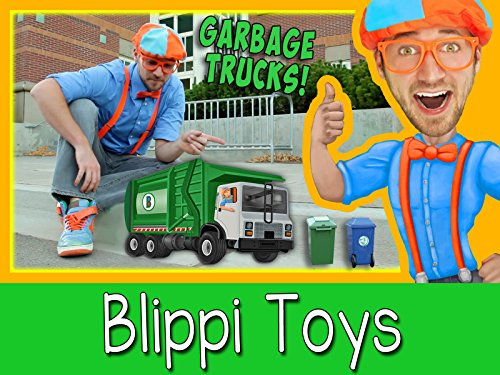 Learn with Toys and Blippi - Garbage Truck and Construction Vehicles