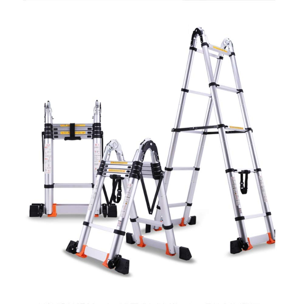 XIA Multifuncional telescópica Escalera 3,7 + 3,7=Recta 7.3m Escalera Contracción Altura 1.15zm, escalera plegable 9 Paso (Size : 1.7+1.7=3.4m straight): Amazon.es: Bricolaje y herramientas