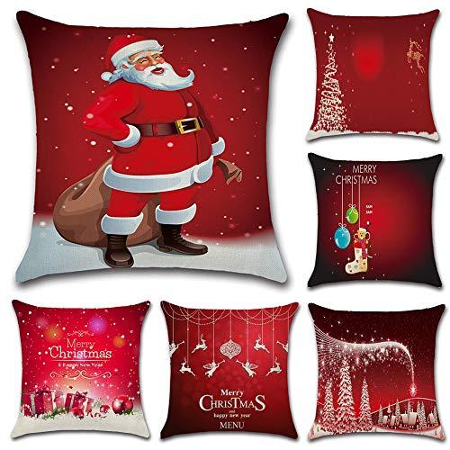 HuifengS Feliz Navidad y próspero año Nuevo Fundas de coj�