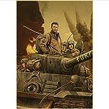 Leinwand Poster Wut Brad Pitt Tiger Sherman Tank Hollywood