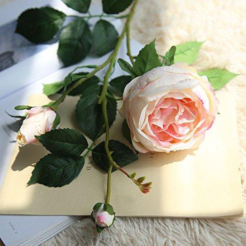OHQ-Fausse Fleur Decoration Décoration Blanche Bleu Rose À Suspendre avec Vase Bouquet Boite Boule Cerisier Cheveux Cimetiere Coton Champetre Mariage Deco De Tiaré Soie Exterieur Exotique (C)