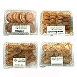 Lázaro pack surtido de rosquillas, galletas fritas ( rellenas de crema de vainilla) y pestiños de miel y de azúcar. 1000 g