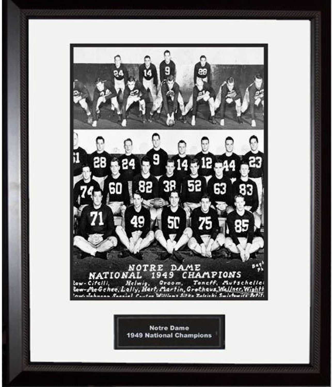 Steiner Sports NCAA Notre Dame Fighting Irish 1949 National Championship Team Portrait Framed Igned 16x20 Photo