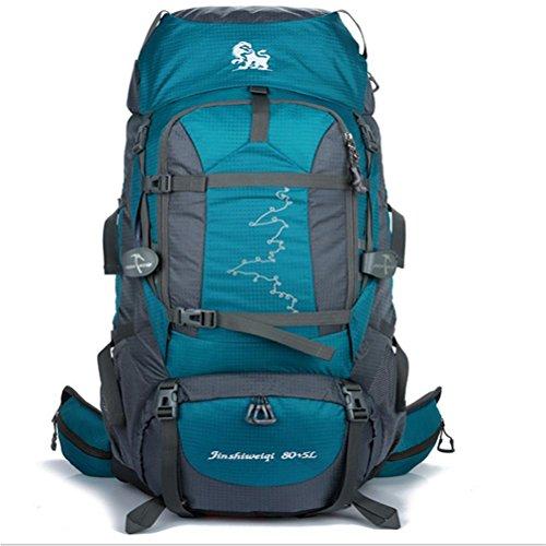 Outdoor grande capienza 85L alpinismo tempo libero camminando a tracolla , dark blue