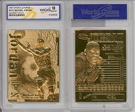 1996 MICHAEL JORDAN FLEER Z-FORCE 23K GOLD FOIL CARD