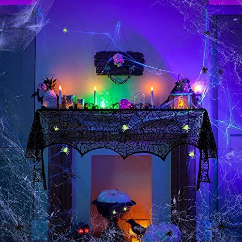 Halloween Decorazioni,Halloween Decorazioni Horror,Ragnatela di Decorazione di Halloween Falsi Ragni,Halloween Decorazioni Tavola Decorazione Del Partito per Scene Indoor Outdoor,Haunted House