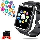 ANCwear Bluetooth smart Uhren - smart Watch für Android handys mit SIM-Karten-Slot Kamera, Tracker-Uhr mit Schlaf-Monitor, Pedometer-Uhr für Damen Herren Kinder kompatibel iPhone Android Phone