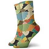 Not applicable Calcetines unisex Origami Patrón japonés Moda Novedad Calcetines deportivos secos