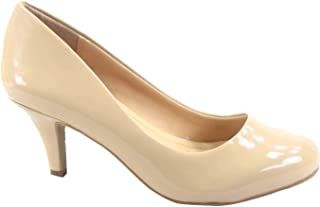 CITYCLASSIFIED Carlo-s Women's Classic Comfort Round Toe Low Heel Pump Office Shoes