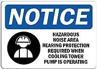 警告サイン危険なノイズ領域聴覚ティンウォールサイン警告サイン金属のプラークのポスター鉄の絵画アートの装飾バーカフェキュートホテルオフィスベッドルームガーデン