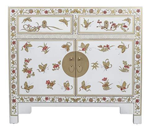 Fine Asianliving Chinesisches Kommode chinesisches Sideboard chinesischer Schrank chinesische Möbel Schlafzimmer Orientalischer Asiatischer 90x40x80