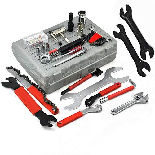 Fscm – Maletín de herramientas para bicicleta, 44 piezas, universal, con herramienta de reparación multifuncional portátil
