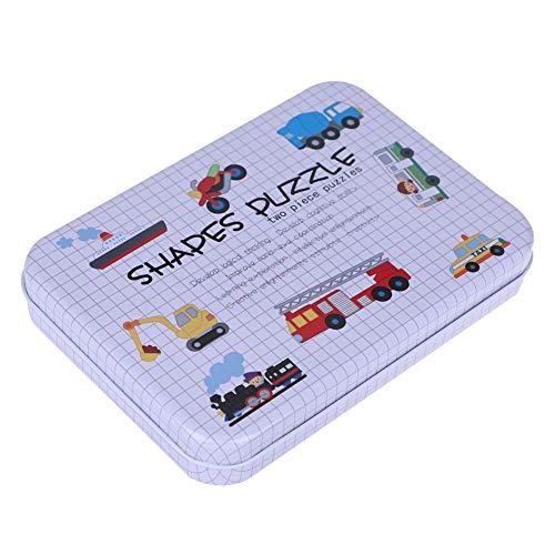 Educatief houten puzzel Sorteerspeelgoed Kinderen Educatief speelgoed Set met dienblad Educatief puzzelbord ouder dan 3 jaar (auto)