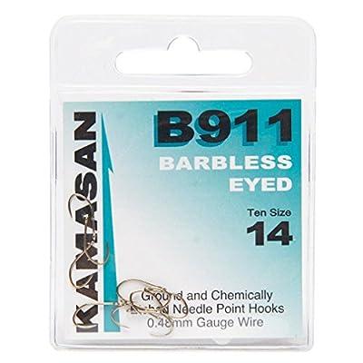 KAMASAN B911 Extra Strong Eyed Fishing Hooks - Size 14, One Size by KAMASAN