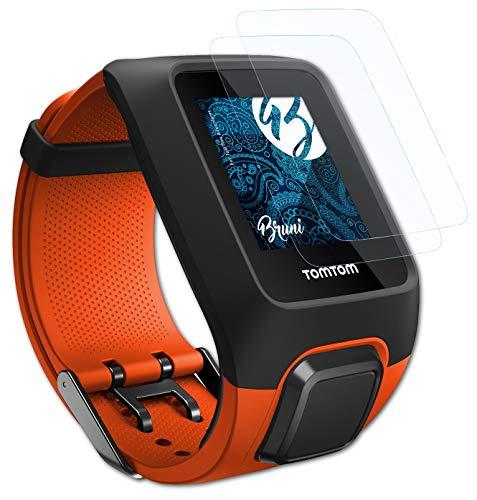 Bruni Schutzfolie kompatibel mit Tomtom Adventurer Folie, glasklare Bildschirmschutzfolie (2X)