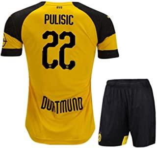 Fysasf Youth Pulisic Jersey 2018/19 Borussia Dortmund BVB 22 Home Kid's Christian Shorts