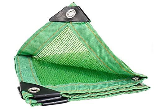 Tarpaulin Waterproo Shade Net Protección Solar para jardín, cochera, Techo, toldo Verde a Prueba de Polvo.Personalizable (Tamaño: 5x6m)