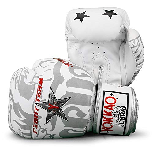 YOKKAO Fight Team Muay Thai guantoni da boxe in pelle traspirante